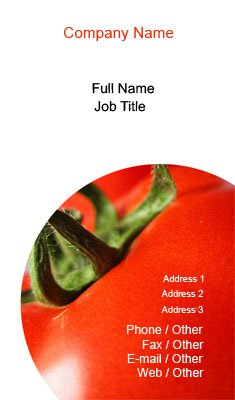 Red Tomato Business Card Template